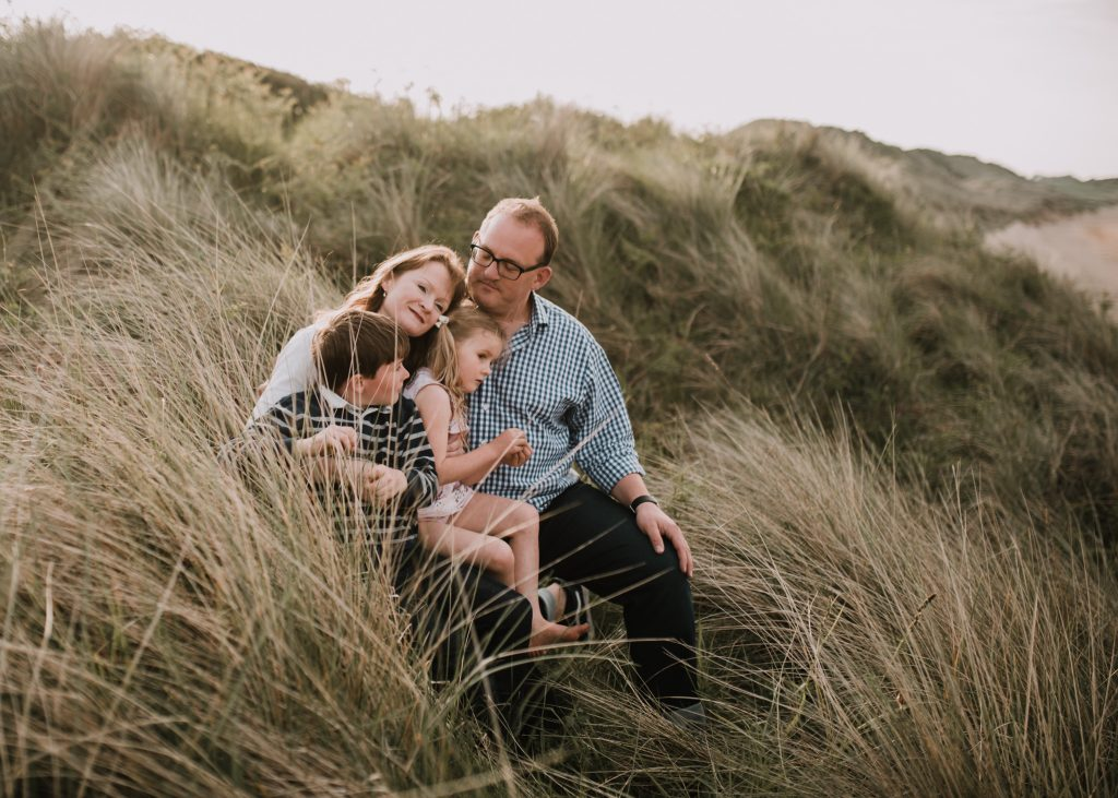 family beach session embleton bay