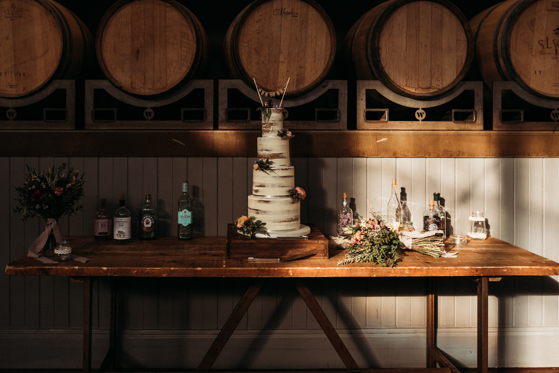 wedding cake at Wylam Brewery Wedding