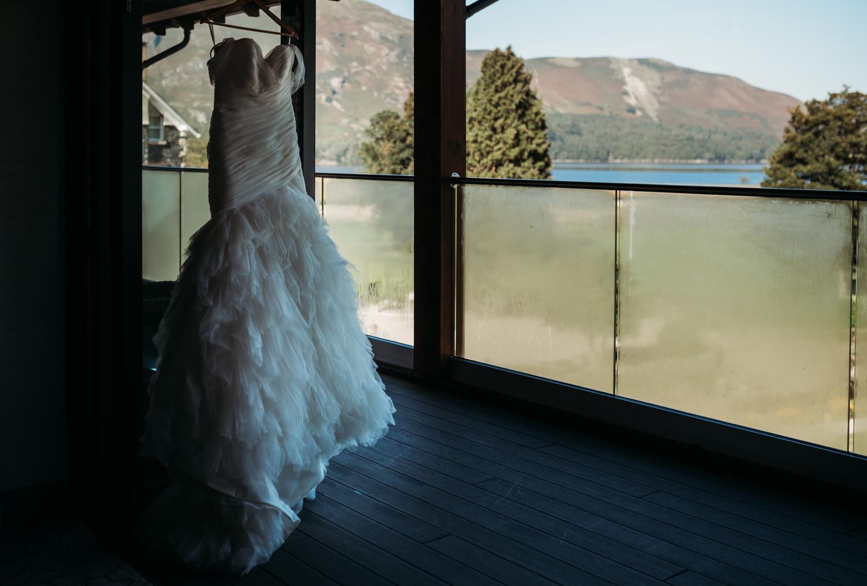 Wedding Dress at Lodore Falls Hotel